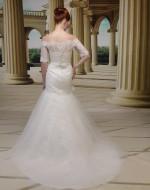 Wedding Dress Style VE8677 back view - Venus Bridal